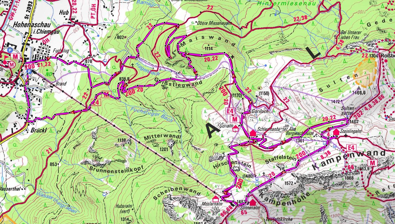 mountainbike-guide-kampenwand-karte