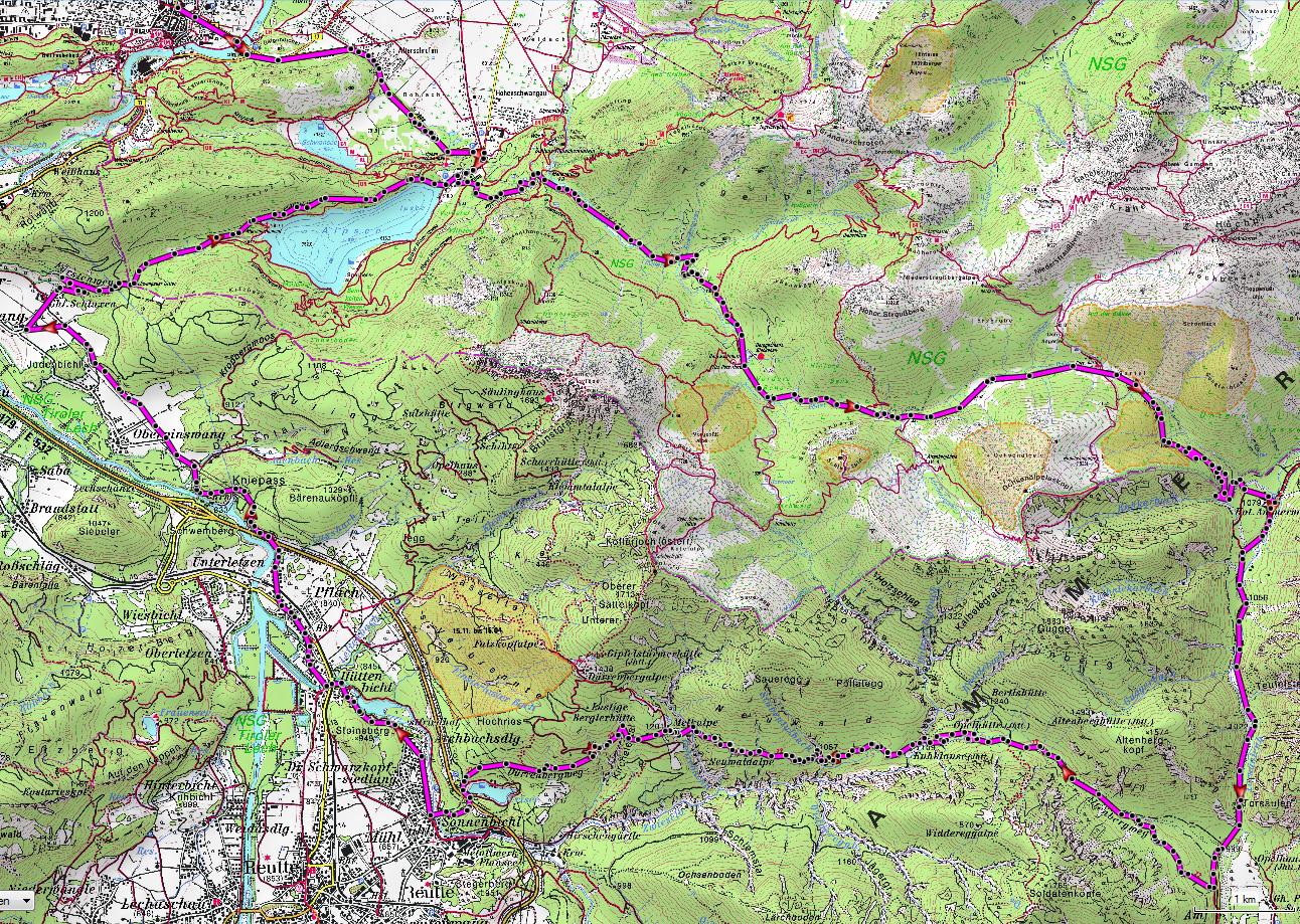 mountainbike-guide-sauling-karte