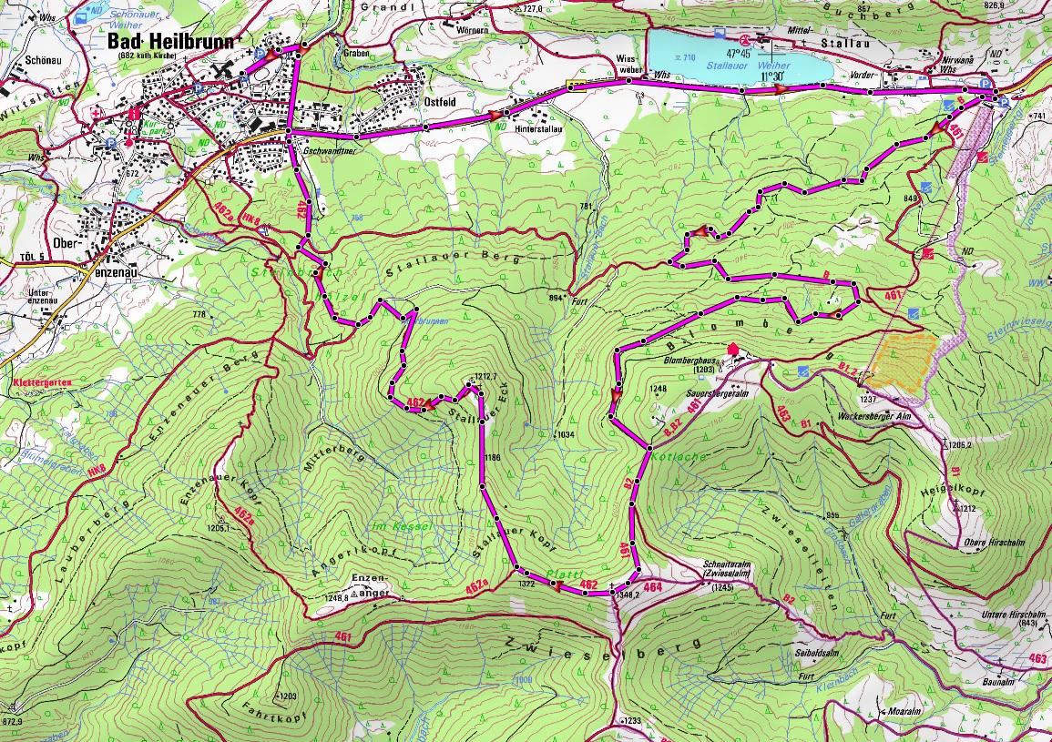 mountainbike-guide-zwiesel-karte