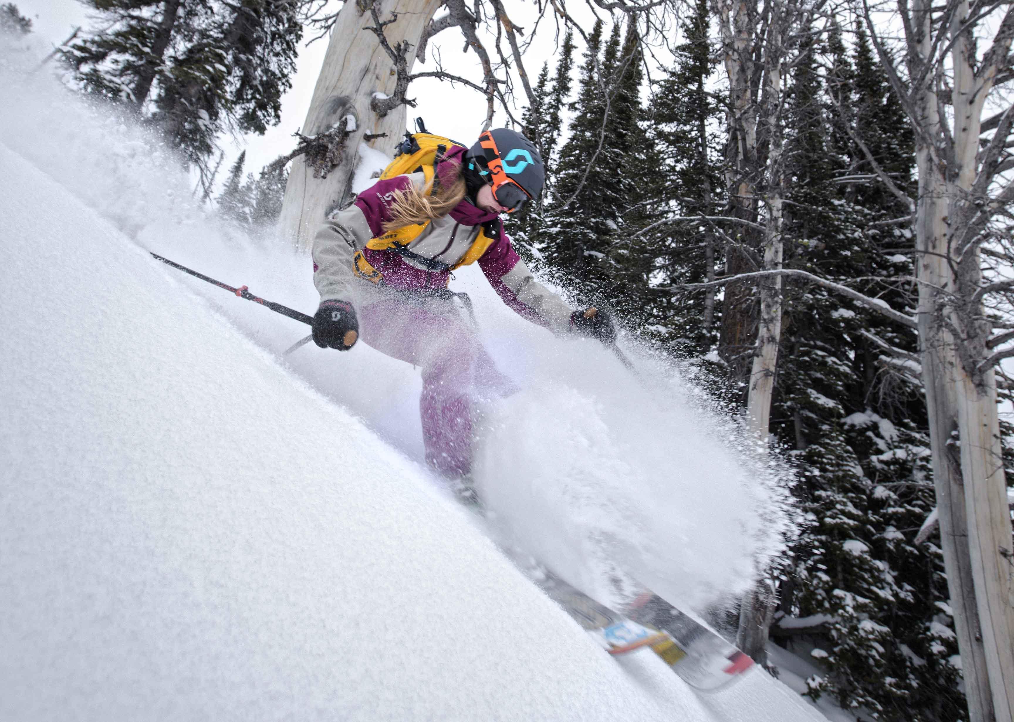 Skifahrerin All Mountain
