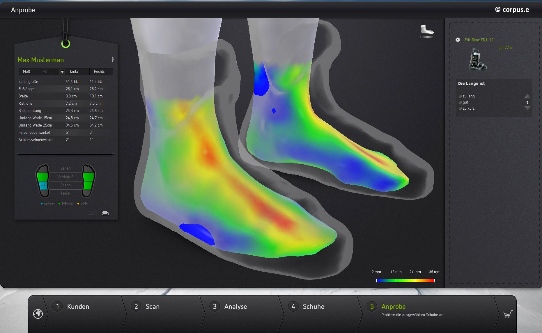 Foot Scanner_Anprobe