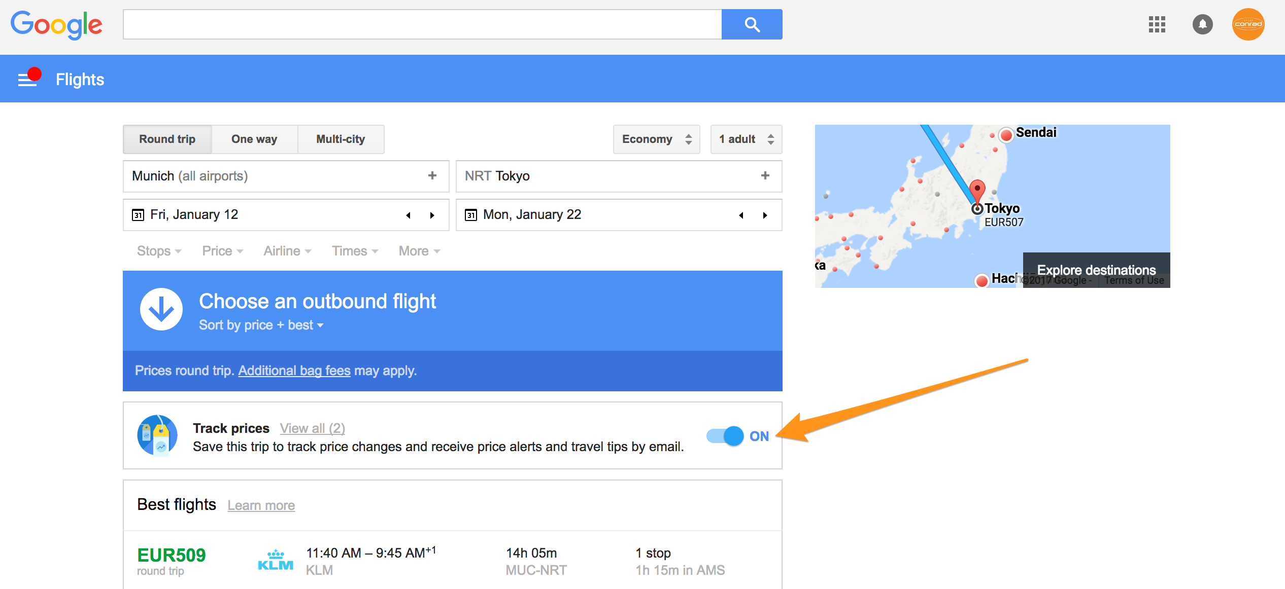 japan-ski-trip-google-flights-price-alert